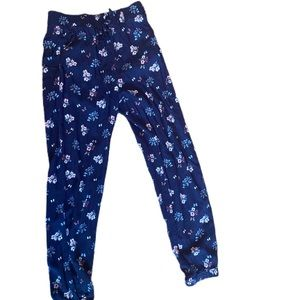 H&M light floral pants size 8-9 years